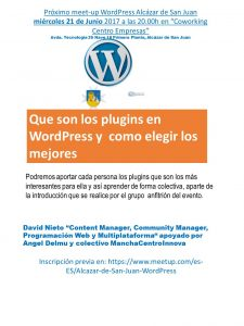 Meet Up WordPress Alcazar de San Juan Junio17