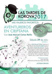 cartel tardes con Koroba Aventureros en Criptana