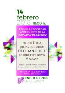 tercer encuentro IES JUan Bosco EscuelaySociedad Reto Igualdad Genero