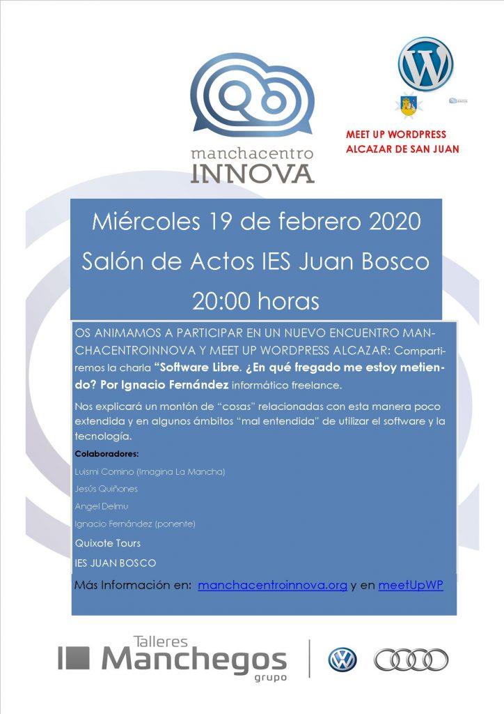 Encuentro ManchaCentroInnova Febrero 2020 software libre